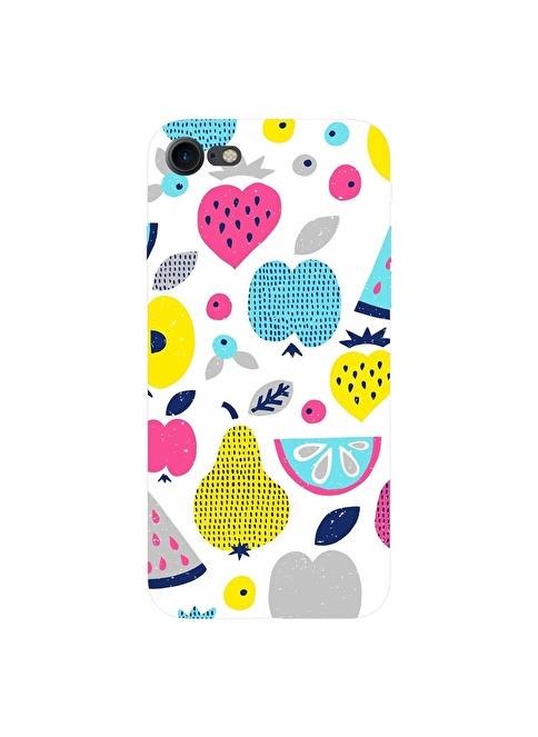 People's Cover iPhone 7 Kabartmalı Telefon Kılıfı Renkli